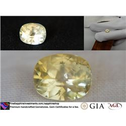 Pastel Yellow premium handcrafted Sapphire,GIA 2.61ct
