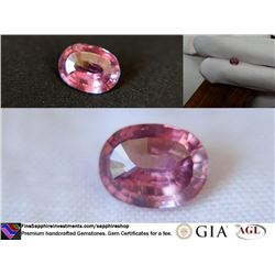 red-pink Sapphire, unheated, premium cut GIA 1.48 ct