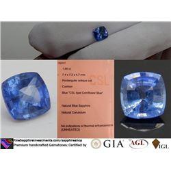 Cornflower Blue Ceylon Sapphire, loose | GIA 1.96 ct