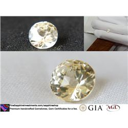 Vivid yellow metallic fine handcraft Sapphire 1.86 ct