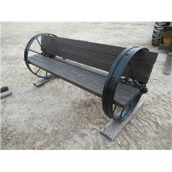 MW- Steel Wheel Yard Bench