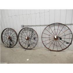 MW- 3- Steel Wheels & Solar Lights