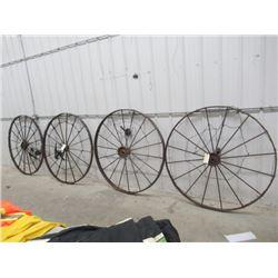 MW- 4- Steel Wheels w Solar Lights