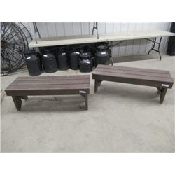 MW- 2- Wood Benches 4' Wide
