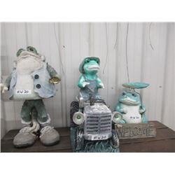 MW- 3 Frog Yard Ornaments