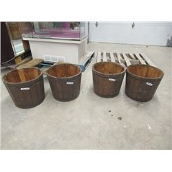 "MW- 4- Cedar Planters 16"" x 18"" RD"