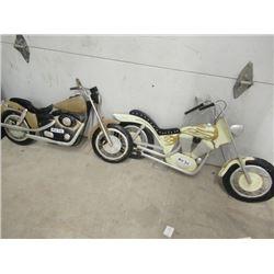 "MW- 2- Metal Yard Ornaments- Motorcycles 24""x 36"""