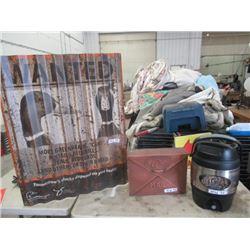 MW- 3 Items -1 Ducks Unltd Copper Mail Box 1 Ducks Unltd Metal Ducks of Tomorrow Sign 1 Ducks Unltd