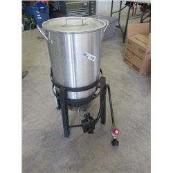 MW- Propane Cooker w Stainless Pot