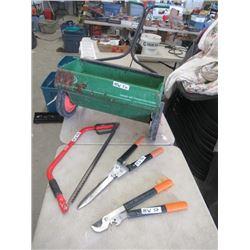 MW- Package- Yard Fertilizer, Buck Saw, Pruner, & Hedger