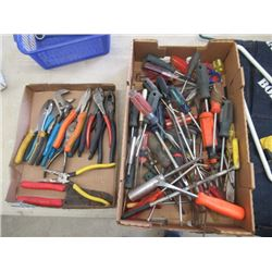 MW- Over 50 Screwdrivers, 15 Pliers, & Wire Cutters