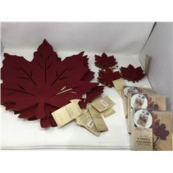 Lot of Assorted Autumn Table Decor