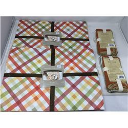 Lot of Autum Printed Placemats and Napkins