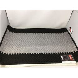 Graphic Cut Loop Rubber Back Mat-Black