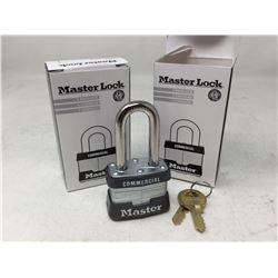 Master Lock Commercial Padlock and Key Set (2 sets)