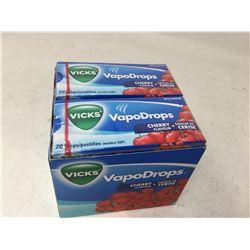 Case of Vick's VapoDrops-Cherry Flavour