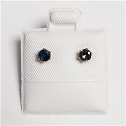 14K Gold Filled Sapphire(0.92ct) Earrings, Made in Canada, Suggested Retail Value $160