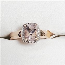 Silver Morganite Ring (~Size 6.5), Suggested Retail Value $200
