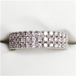 Silver Pink Cz Ring (~Size 6), Suggested Retail Value $100
