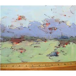 """Réveil peinture originale par LangdonArt 9hx12"""" 2 scenes LangdonArt Awakening original painting"""