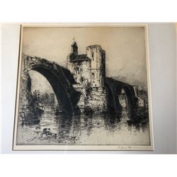SET OF 3 HEDLEY FITTON ETCHINGS