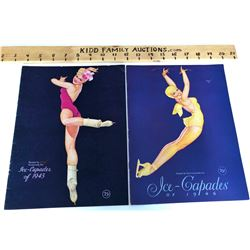 SET OF 4 ANTIQUE ICE-CAPADES BROCHURES