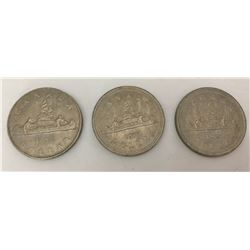 GR OF 3 CANADIAN DOLLAR COINS