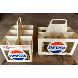 GR OF 2 VINTAGE PLASTIC PEPSI BOTTLE CARRIERS