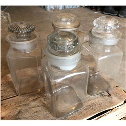 GR OF 4 VINTAGE CANDY JARS