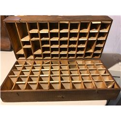 ANTIQUE QUEBEC SALESMAN'S CASE