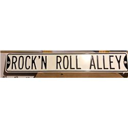 ROCK'N ROLL ALLEY SINGLE SIDED TIN SIGN