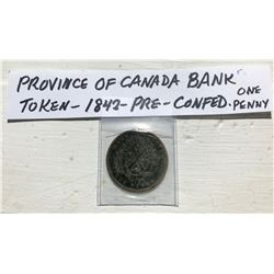 1842 PROVINCE OF CANADA BANK TOKEN
