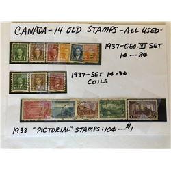 GR OF 1937-38 CND STAMPS