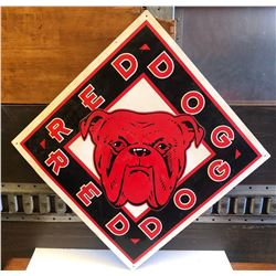 """RED DOG SINGLE SIDED TIN SIGN - 21"""" X 21"""""""