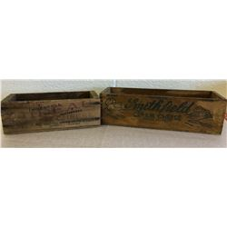 GR OF 2 ANTIQUE CHEESE BOXES