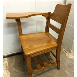 ANTIQUE OAK CHILD'S SCHOOL DESK