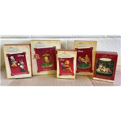 GR OF 5 HALLMARK KEEPSAKE ORNAMENTS