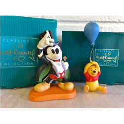 GR OF 2, DISNEY COLLECTION FIGURINES