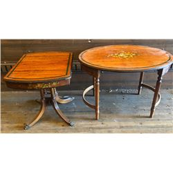 SET OF 2 DUNCAN PHYFE STYLE END TABLES