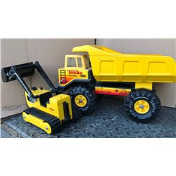 GR OF 2 TONKA DUMP TRUCK & LOADER ON TRAX