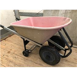 PLASTIC WHEEL BARREL WITH 4 WHEEL BASE