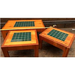 SET OF 3 SOLID PINE COFFEE & END TABLES