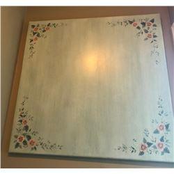FOLK ART WOOD TABLE TOP OR WALL HANGING