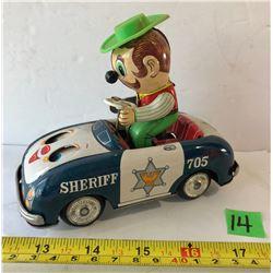 VINTAGE TIN SHERIFF'S CAR