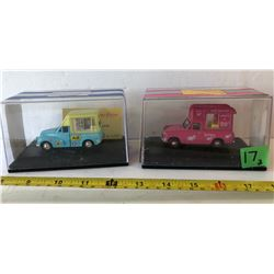 GR OF 3, OXFORD TOY ICE CREAM TRUCKS