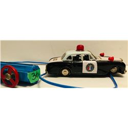 YONEZAWA TOY CO JAPAN VINTAGE REMOTE CONTROL POLICE CAR