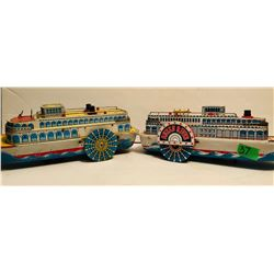 GR OF 2, MODERN TOYS TIN RIVER BOATS