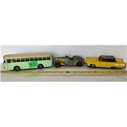 GR OF 3, VINTAGE TOY VEHICLES