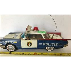 VINTAGE TIN POLITIE CAR