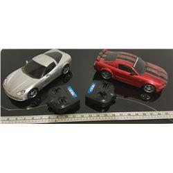 NIKKO - CORVETTE & MUSTANG REMOTE CONTROL RACE CARS